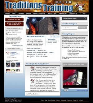 Screenshot of TraditionsTraining.com