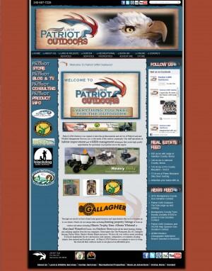 Screenshot of PatriotlwmOutdoors.com